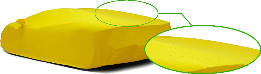 滑らかなボディーラインをトレースするように設計
